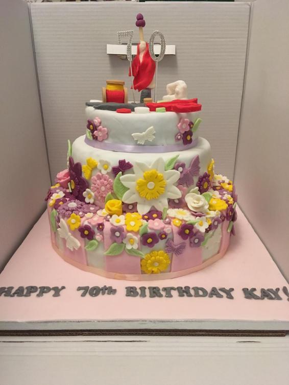 Kay's Seamstress Birthday Cake