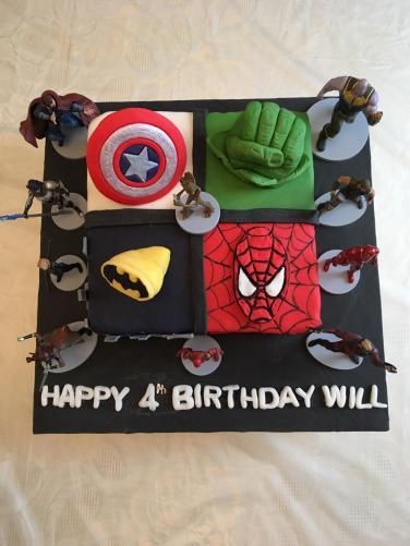 Will's Marvel Birthday Cake