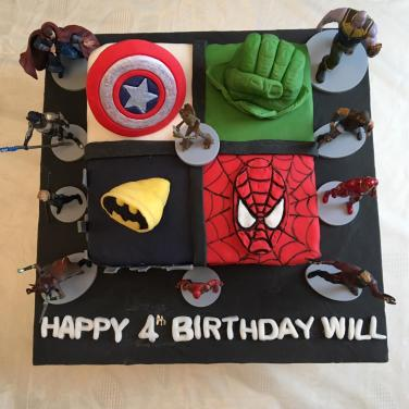 Will's Marvel Birthday Cake