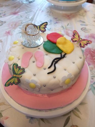 Gin's Baby Girl Shower Cake
