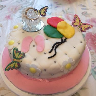 Gin's Baby Girl Shower Cake